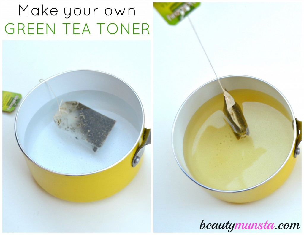 Steep the green tea bag