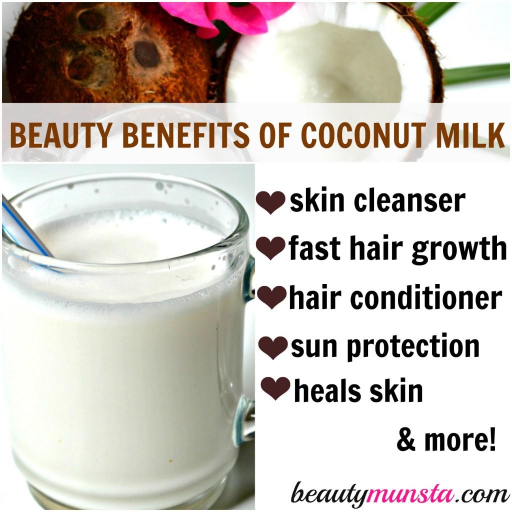 beauty benefits of coconut milk