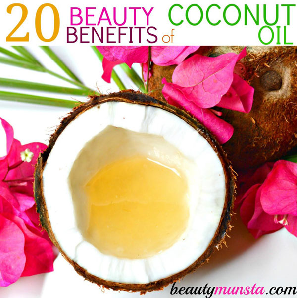 Let's discover 20 amazing beauty benefits of coconut oil for skin, hair & more!