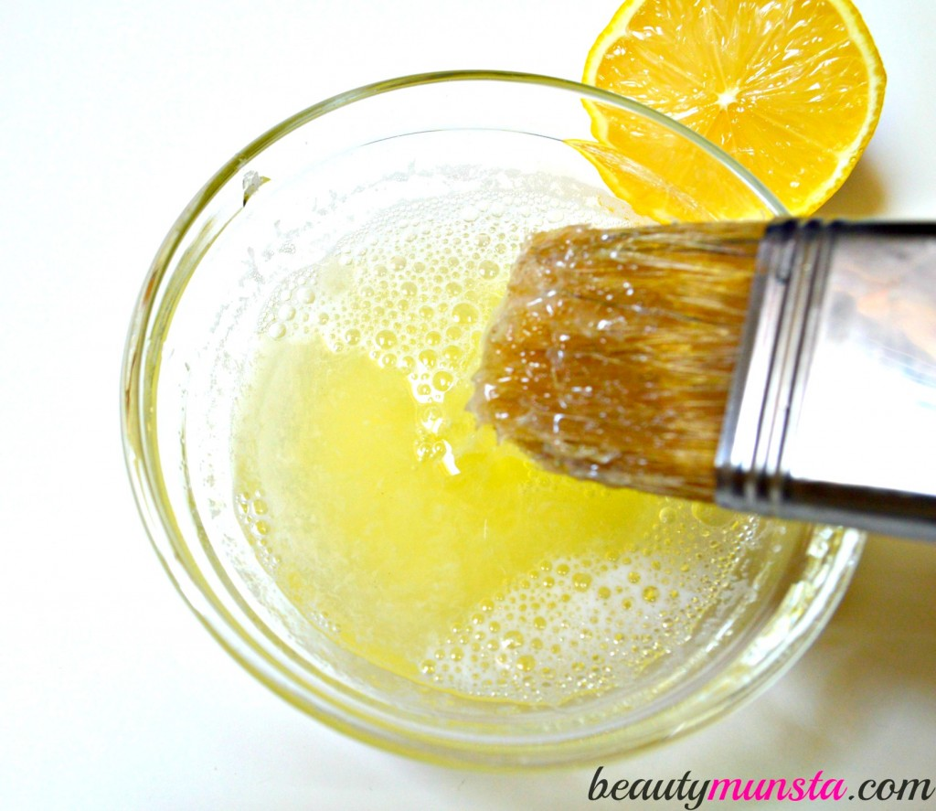 how to clean my face with lemon