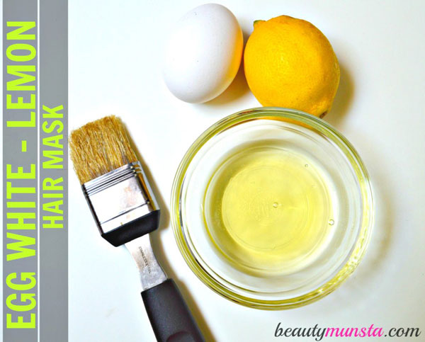 Learn how to prepare an egg white lemon hair mask at home for beautiful, clean and shiny hair & scalp!