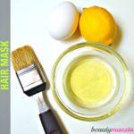 Egg White Lemon Hair Mask | Cleansing & Dandruff Control