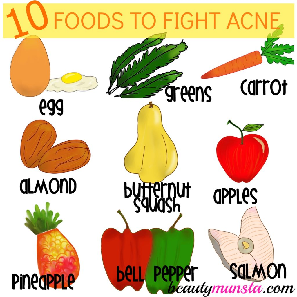 foods good for acne prone skin