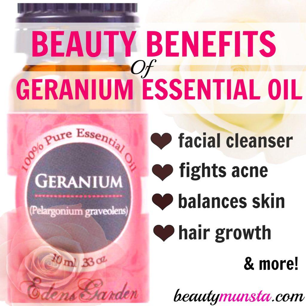 Beauty Benefits of Geranium Essential Oil
