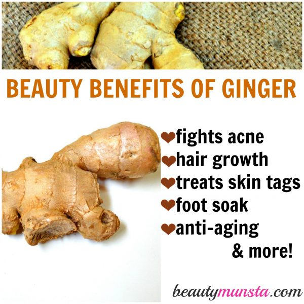 Ginger is for more than just curing coughs - it's got a great list of beauty benefits too!