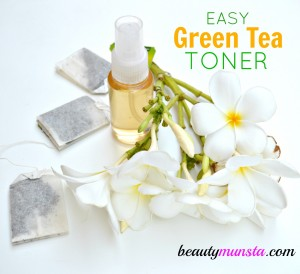 DIY Green Tea Toner for Oily Skin