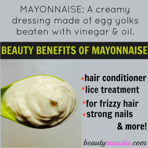 Discover 9 exciting beauty benefits of mayonnaise for your skin, hair, nails and more!