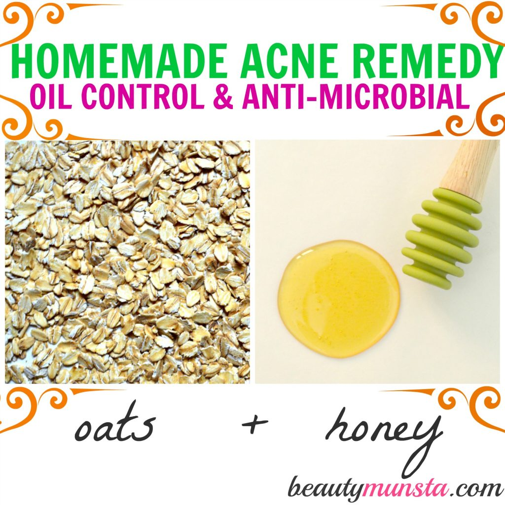 Oatmeal & Honey Face Mask for Acne