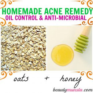 Homemade Oatmeal and Honey Face Mask for Acne