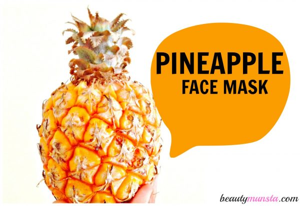 pineapple tropical face mask