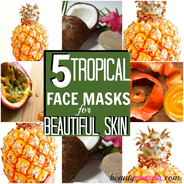 Discover 5 tropical face masks ready to prep your skin and put you in holiday mood!