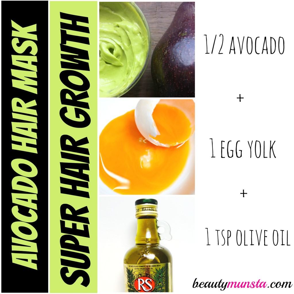growth avocado hair mask