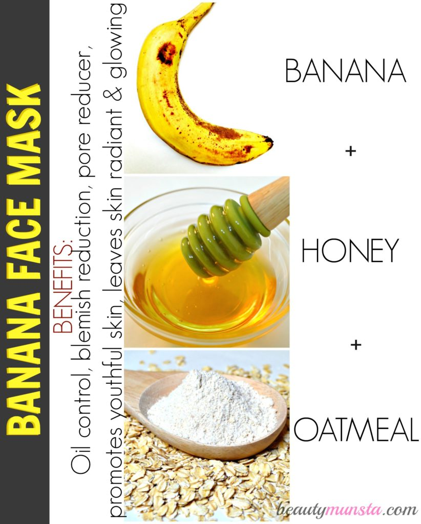 Top 3 homemade face masks for combination skin beautymunsta banana oatmeal honey face mask for combination skin solutioingenieria