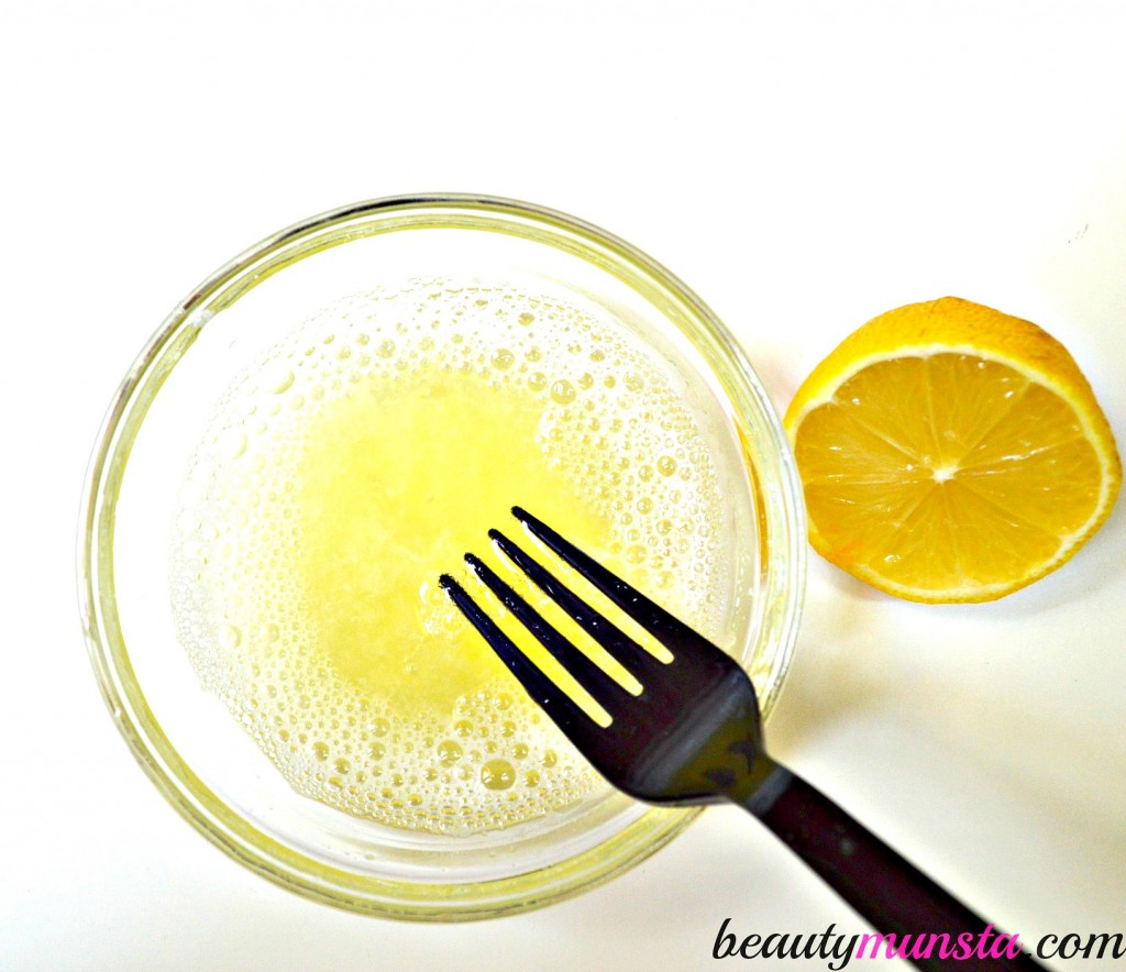 egg white lemon face mask 2