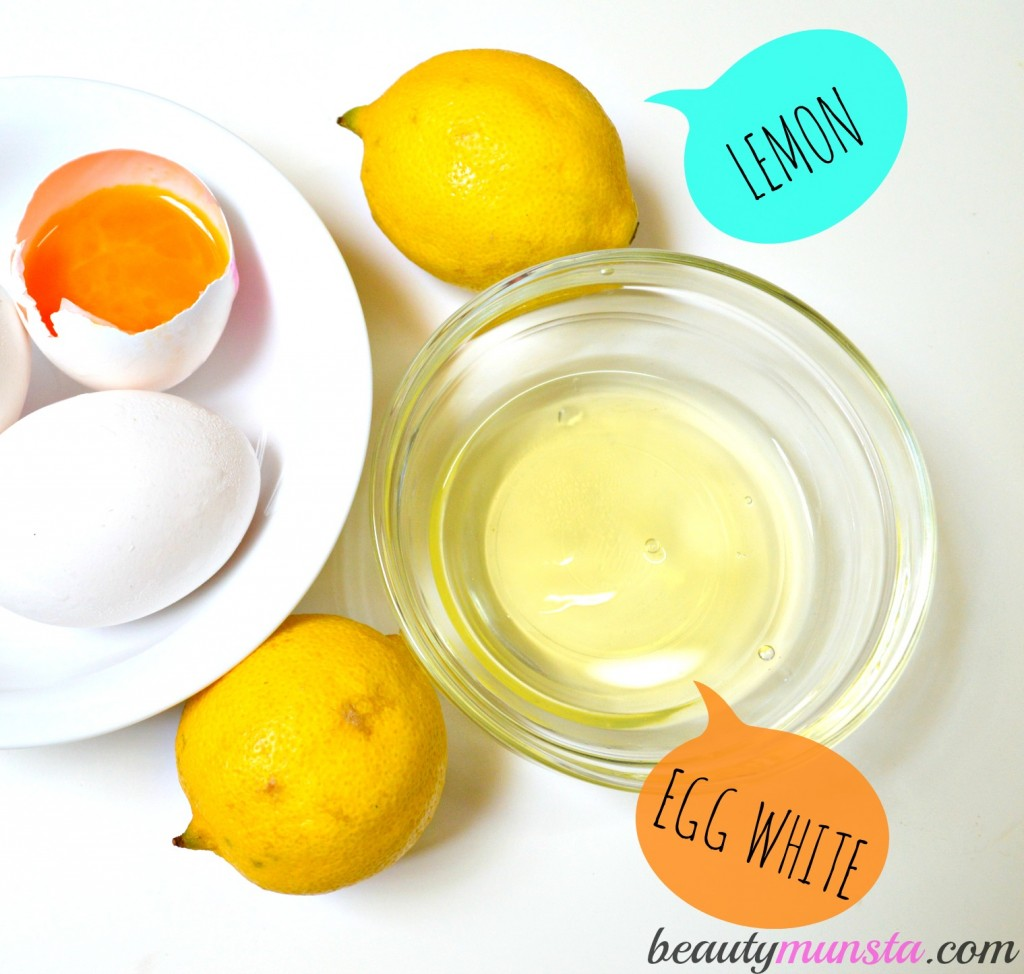 egg white lemon face mask 3