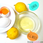 Egg White Lemon Face Mask for Acne & Oily Skin