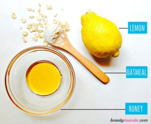 Honey Oatmeal Lemon Face Mask for Acne Scars & More