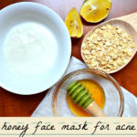 Brightening Oatmeal Yogurt Lemon Honey Face Mask for Acne