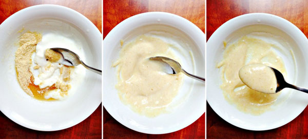Get a spoon and give the ingredients a few stirs to form a smooth creamy paste.
