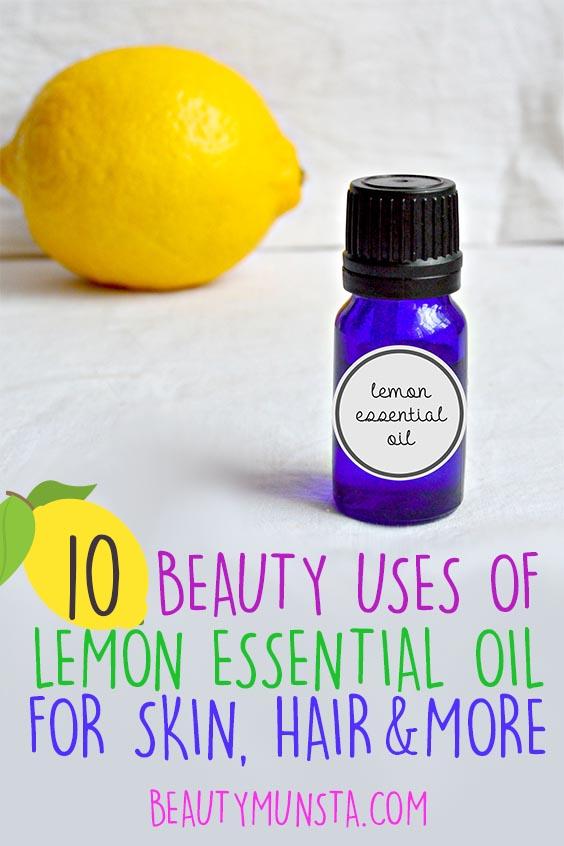 beauty benefits of lemon essential oil