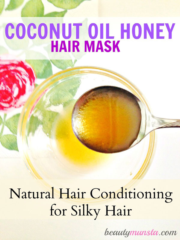Try this coconut oil honey hair mask! It's a deep conditioning treatment for silky hair!