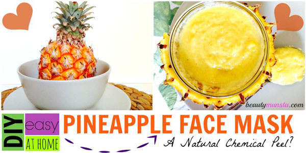 This pineapple face mask leaves your skin visibly lighter and smoother as it shrinks pores as well. Call it an at home chemical peel , if you will!