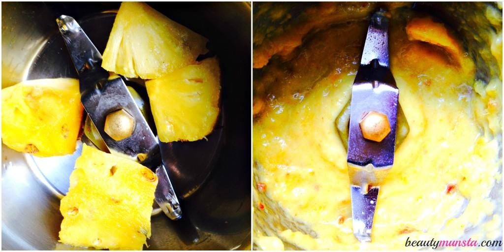 pineapple honey mask