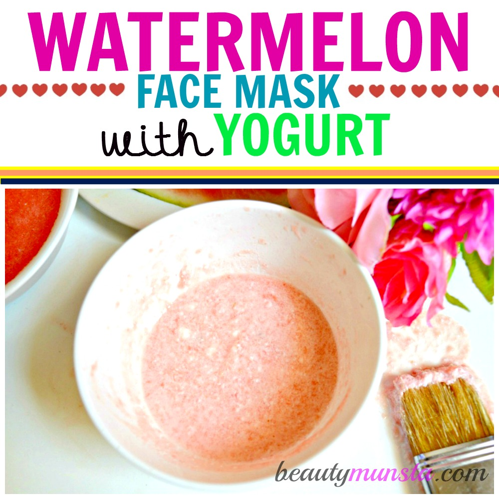 Got dry skin? Your skin needs this watermelon face mask treatment with yogurt to nourish, hydrate and revitalize dry skin.
