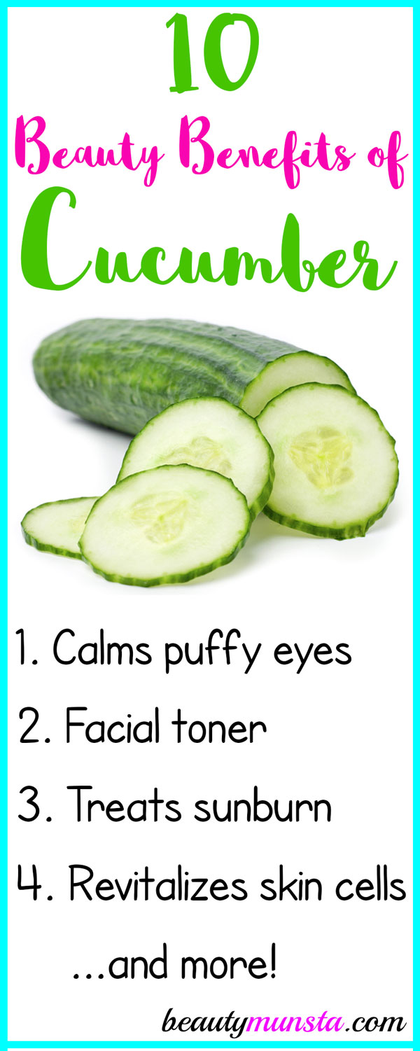 10 Cool Beauty Benefits Of Cucumbers For Skin Hair Beautymunsta Free Natural Beauty Hacks And More