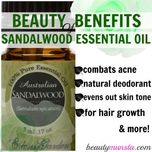 beauty benefits of sandalwood essential oil