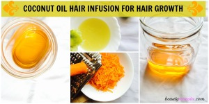 coconut oil hair infusion