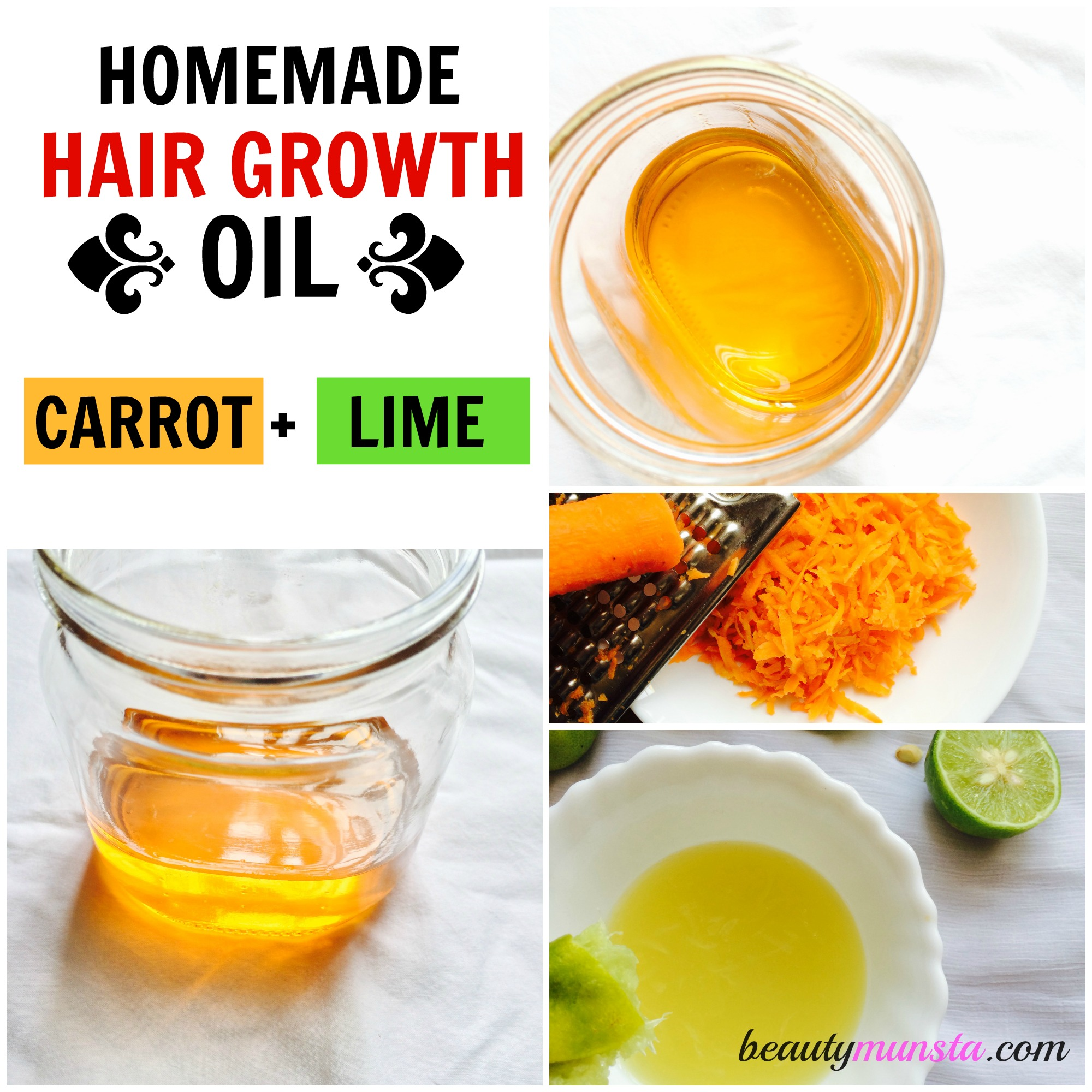 Carrot Amp Lime Homemade Hair Oil Recipe For Hair Growth