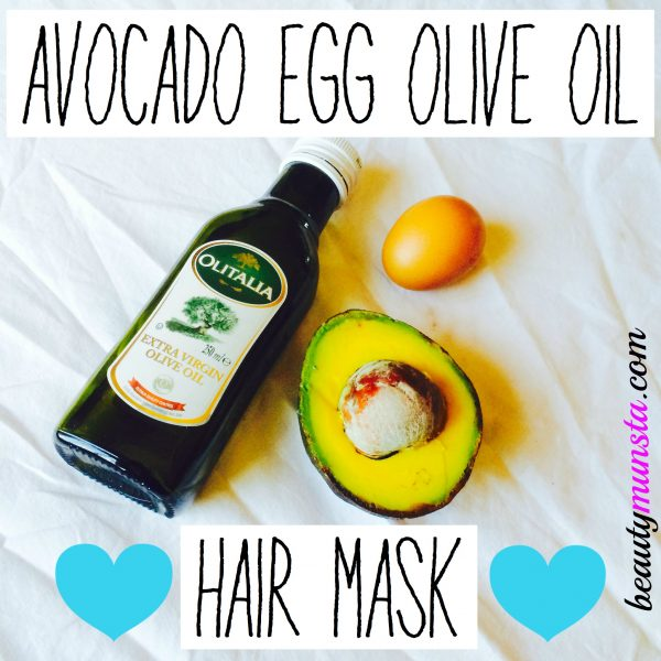 Combine avocado, egg and olive oil to make a nourishing hair mask that boosts hair growth, repairs damaged hair & add lustre to lifeless hair!