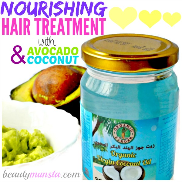 DIY Avocado and Coconut Oil Hair Mask | Nourish & Repair