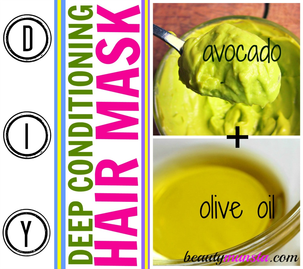 Olive oil & avocado are perfect deep conditioning hair mask ingredients to restore dull hair back to life!