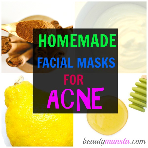 Here are the top 3 homemade facial masks for acne to disinfect, regulate sebum & soothe acneic skin