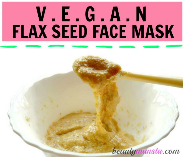 If you're vegan or allergic to eggs, use this flaxseed face mask which is a perfect substitute for an egg white face mask!