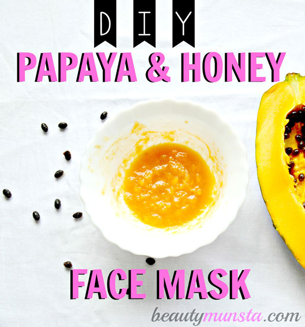 Try this easy diy papaya and honey face mask for a natural enzyme facial treatment