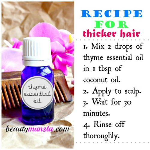 Hair treatment with essential oils: Use thyme essential oil to reduce hair loss & promote new hair growth