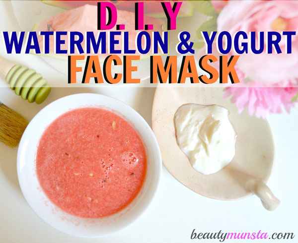 Find out how to make a yogurt watermelon face mask for acne in the post below!