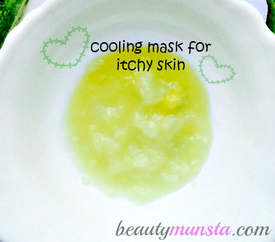 Itchy skin? No worries! This avocado and cucumber face mask will take away the itch by providing moisture-rich relief.