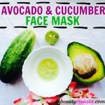 DIY Cooling Avocado Cucumber Face Mask