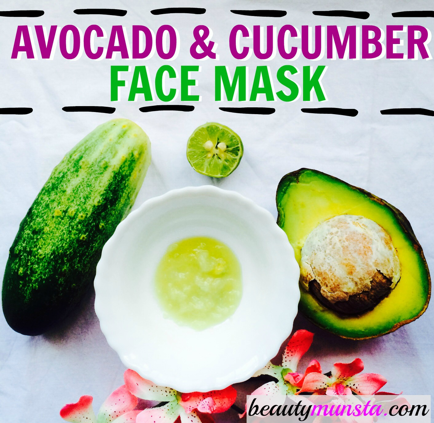 Combine avocado & cucumber to make a cooling, soothing & hydrating face mask
