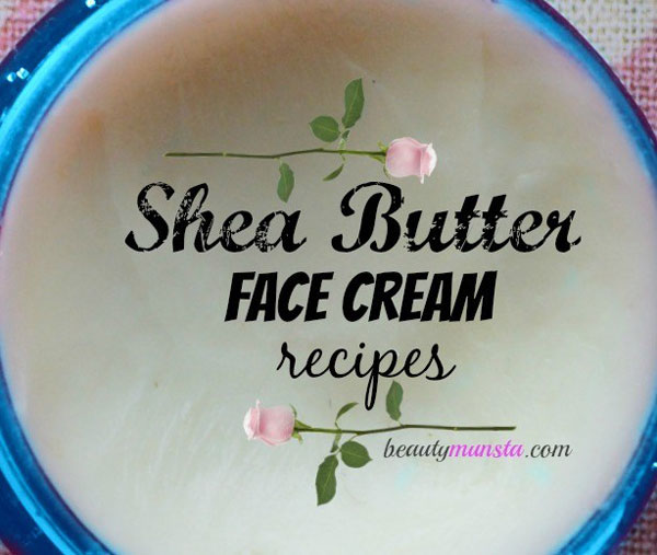 Here's how to make a shea butter face cream with 3 recipes!