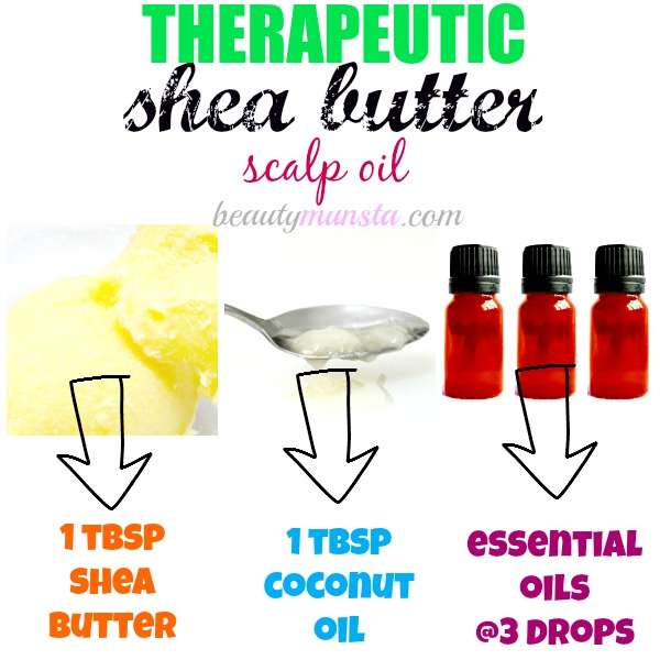You can use shea butter to make an invigorating and therapeutic scalp massage oil which will also stimulate the hair follicles