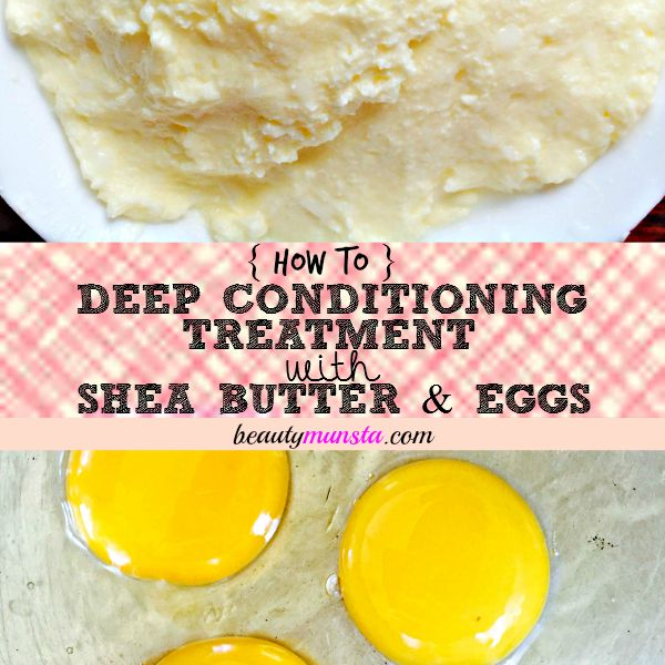 I love mixing shea butter + eggs as a deep conditioning treatment to promote hair growth & shine!