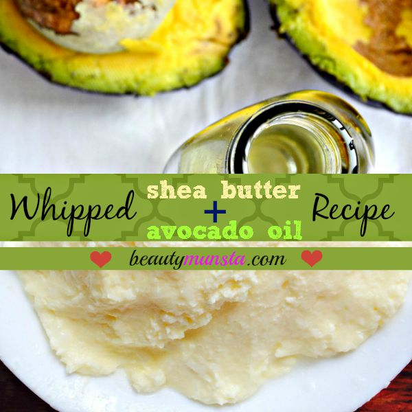 A whipped shea butter and avocado oil recipe for beautiful skin & hair!