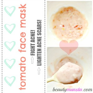Antibacterial Tomato Face Mask for Acne with Yogurt