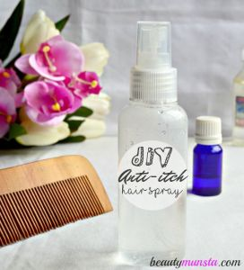 DIY Anti-Itch Hair Spray with Peppermint, Tea Tree & Rosemary Essential Oils