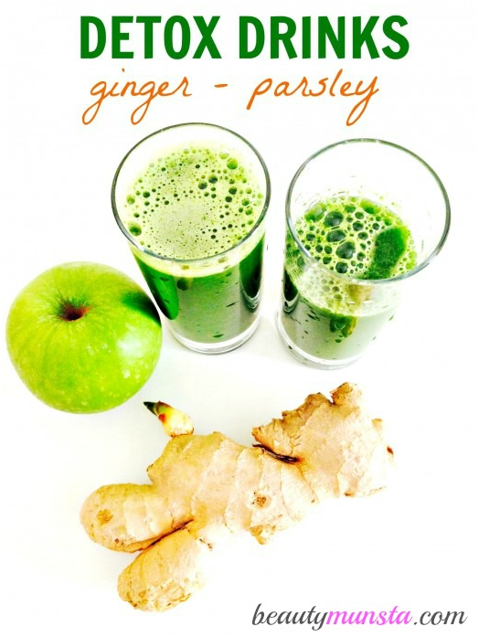 A lovely green and vibrant detox drink is ready!